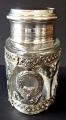 Stříbrná a skleněná dóza, empírový ornament - Weinranck & Schmidt, Hanau (2).JPG