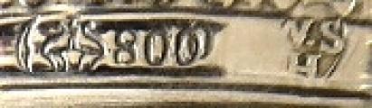 Stříbrná a skleněná dóza, empírový ornament - Weinranck & Schmidt, Hanau (7).JPG