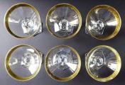 Šest skleniček na šampaňské, zlacené - Moser (3).JPG