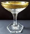 Šest skleniček na šampaňské, zlacené - Moser (4).JPG