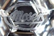 Šest skleniček na šampaňské, zlacené - Moser (5).JPG