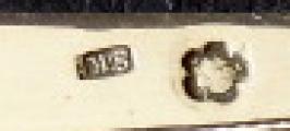 Šest nožů a šest vidliček, stříbrné rukojeti - Praha 1870 - 1890 (5).JPG