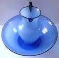 Velká mísa a džbán, z modrého opálového skla - Loetz  (2).JPG