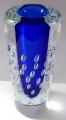 Větší váza s modrým středem a bublinkami - Jaroslav Svoboda (2).JPG