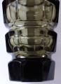 Broušená váza, kouřové sklo - styl Moser (3).JPG