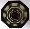 Broušená váza, kouřové sklo - styl Moser (4).JPG