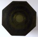 Broušená váza, kouřové sklo - styl Moser (5).JPG