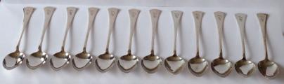 Stříbrné příbory pro dvanáct osob, v etui - styl art deco (3).JPG
