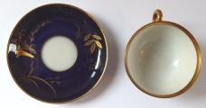 Kobaltový a zlacený moka šálek - Johann Haviland (3).JPG