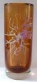 Váza, ambrové sklo, s květem - Petr Hora, Škrdlovice, rok 1983 (1).JPG