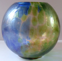 Kulatá secesní tříbarevná vázička (1).JPG