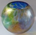 Kulatá secesní tříbarevná vázička (2).JPG