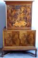 Bar se skříňkou, intarzie s exotickým motivem - Art Deko (1).JPG