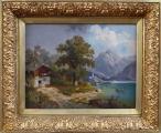 M. Brass - Projížďka loďkou na horském jezeru(1).JPG