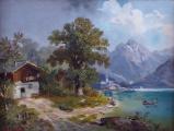 M. Brass - Projížďka loďkou na horském jezeru(2).JPG