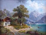 M. Brass - Projížďka loďkou na horském jezeru(3).JPG