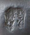 Cínový korbel, figurální víčko - Johann Michael Pschorn, Německo (6).JPG