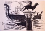 Josef Liesler - Gondoly v Benátkách (2).JPG