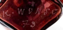 Autorský objekt z rubínového skla - Karel Wünsch, rok 1979 (6).JPG