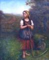 Děvče s kosou, trakařem a lokomotivou v pozadí (3).JPG