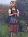 Děvče s kosou, trakařem a lokomotivou v pozadí (4).JPG