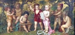 Franz Lefler - Dětská kapela v zahradě (2).JPG
