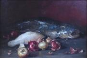 Zátiší se sumcem, rybou a cibulí (2).JPG