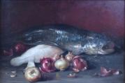 Zátiší se sumcem, rybou a cibulí (3).JPG