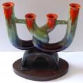 Keramický svícen s barevnou glazurou - Art deko (2).JPG