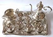 Stříbrná kávová souprava - Victor Nuber, Vídeň (2).JPG