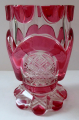 Sklenička, pohár, s růžovými obloučky - Biedermeier (1).JPG