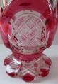 Sklenička, pohár, s růžovými obloučky - Biedermeier (3).JPG