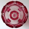 Sklenička, pohár, s růžovými obloučky - Biedermeier (4).JPG