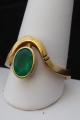 Zlatý prsten, s vlnkou a oválným smaragdem (2).JPG