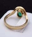 Zlatý prsten, s vlnkou a oválným smaragdem (7).JPG