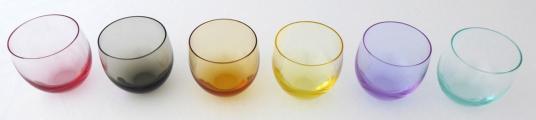Barevné skleničky Culbuto - Rudolf Eschler, Moser (2).JPG