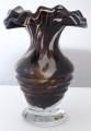 Váza s mléčným a hnědým sklem  (1).JPG