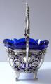 Stříbrný a zlacený košíček, s kobaltovou skleněnou miskou (3).JPG