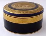 Kobaltová dóza, zlacený reliéf - Anton Weidl, Karlovy Vary (1).JPG