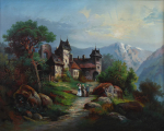 Zámeček v horské krajině (2).JPG