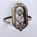 Art deko prsten s diamanty, bílé zlato - brilianty 0,58 ct  (2).JPG