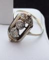 Art deko prsten s diamanty, bílé zlato - brilianty 0,58 ct  (7).JPG