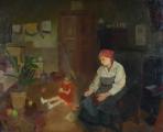 Josef Multrus - Sedící matka s holčičkou ve světnici (2).JPG