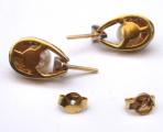 Náušnice bílé a žluté zlato, perly - 0,15 ct brilianty (6).JPG