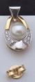 Náušnice bílé a žluté zlato, perly - 0,15 ct brilianty (5).JPG
