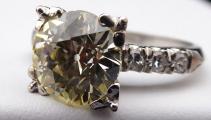 Platinový prsten - Champagne briliant 3,10 ct (1).JPG