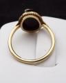 Zlatý prstýnek s kamejí z chalcedonu, říční perličky (3).JPG