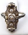 Art deco prsten, bílé zlato - 0,55 ct brilianty (1).JPG
