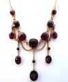 Secesní zlatý náhrdelník s broušenými granáty (2).JPG