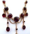 Secesní zlatý náhrdelník s broušenými granáty (3).JPG